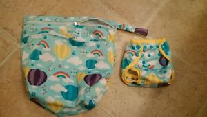 Nuggles Cloth diaper wet bag and matching cover