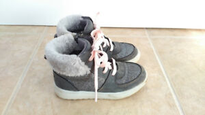 Silver & Grey Osh Kosh High Top Sneaker Boots, Toddler Girl, 10