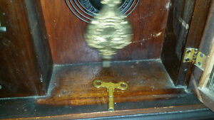 Antique working Gingerbread Clock with Key London Ontario image 3