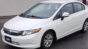 GORGEOUS 2012 CIVIC AUTO IN WHITE JUST LANDING ! CALL NOW