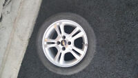 Aluminum Rims off Chev Aveo 15in (Have summer tires on them now
