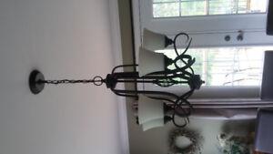 5 light bronze chandelier