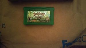 Used Pokemon LeafGreen GBA Cartridge