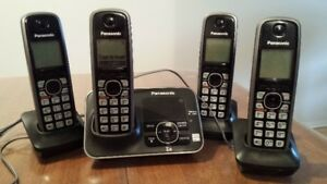 panasonic cordless phones x4