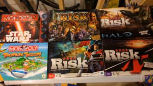 MONOPOLY AND RISK BOARD GAMES