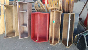 Various Vintage Wooden Tool Boxes