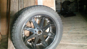 "37"" tires, 24 "" rims, 8 bolt on 6.5 inch"