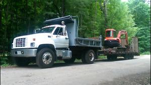 2000 gmc 7500 single axle dump truck