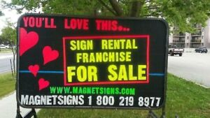 Sign Rental Business - MUST SELL - PRICE REDUCTION