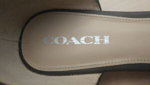Coach Shoes- Leather Pointed Flats Size 11