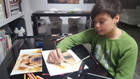 Friday ART KIDS Classes for 7-12 years old