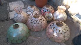 Retro 70s shell style lampshades
