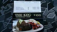 THE KEG $100.00 PRE-PAID CARD!