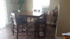 7-Piece Pub-Height Dining Room Set - Price Very negotiable