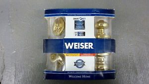 *NEW* Weiser Dead Bolt Deadbolt Keyed Entry Door Knob Doorknob