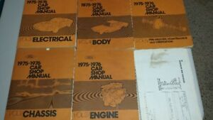1975-76 Ford Car Manuals