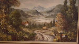 Santerre landscape painting / Santerre Peinture toile paysage