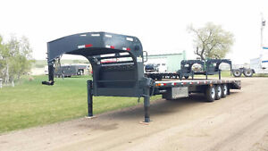 2016 Precision Trailer 30ft Flatdeck Triple Axle Beavertail