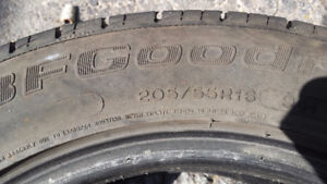 two bf goodrich 205/55R16 tires