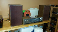 Circa 1970's Telefunken stereo, speakers and record player