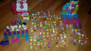 115$ OBO Shopkins season 1-5 with puppy in my pockets