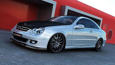 schwarze Spoilerlippe Frontspoiler Diffusor Mercedes CLK W209 Bj. 06-09 Schwert
