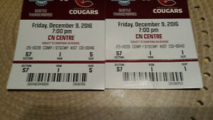 seattle vs cougars for 2 Dec. 9