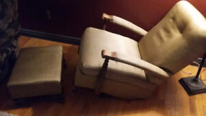 Sandman Sleeper Reclining Chair with matching Stool