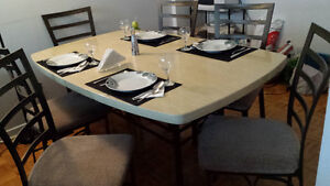 PRICE DROP!! Dining table with 6 chairs