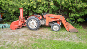 245 Massey ferguson tractor loader and blower