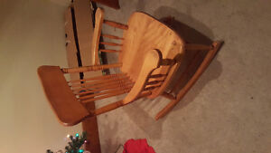 Wooden Rocking Chair-excellent condition