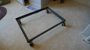 Heavy Duty Steel Frame Cart with Casters For Drill or Bandsaw .