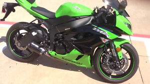 2012 clean zx6r kawi green