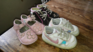 3 pairs of toddler shoes