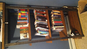 Solid Wood and Metal Bookcase for Sale