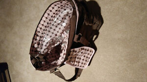 Carter's Brown and Pink Diaper Bag - Excellent condition