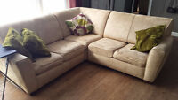 L shape living room chesterfield