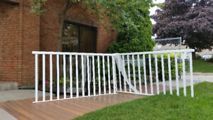 White Aluminum Railings - Powder Coat Painted
