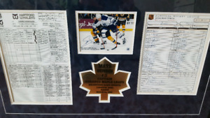 Toronto Maple Leafs Mats Sundin 1000th Game Signed