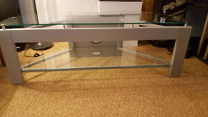 Large TV stand - glass top