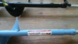 """2 Brand New 5"""" Nor Mark hand ice Augers for winter ice fishing"""