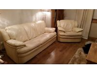 Barclays cream sofa set OPEN TO OFFERS