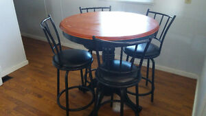 high table and rotating chairs