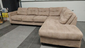 Sears Tufted Beige Sectional