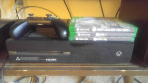 Xbox one 500gb + 3 games