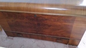 Antique Boshart Cedar Chest with Drawer