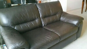 Quick Sale Black leather sofa 200$ OBO