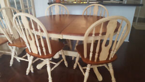 Set of dinning table, chairs and china cabinet