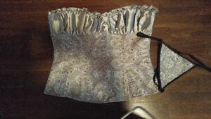 Over bust corset, grey