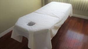 $14 Professional White Massage Table Sheets with Face Rest Hole